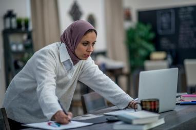 Woman Hard At Work